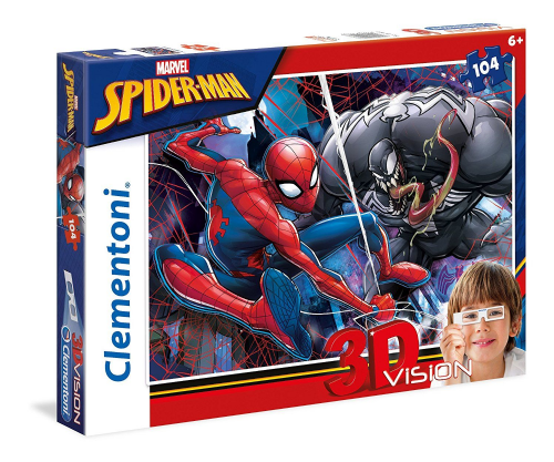 New Clementoni Kids Children Marvel Spiderman 3D Puzzle 104 Pieces